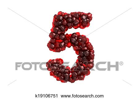 Clipart Of Pomegranate Symbol 5 On White Background K19106751