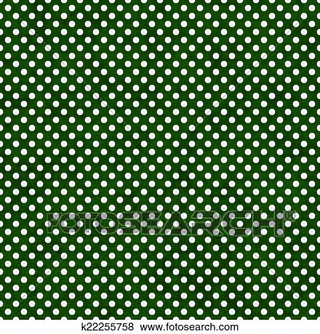 Pictures of Dark Green and White Small Polka Dots Pattern ...