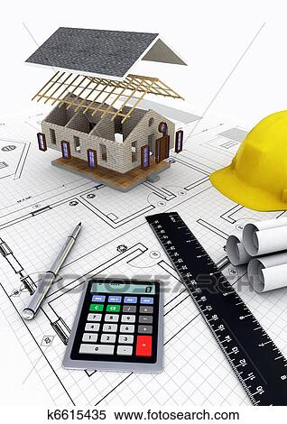 Stock Illustration Of House Construction K6615435 Search