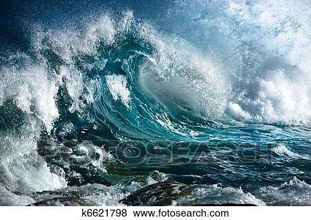 Foto - onda oceano. Fotosearch - Busca de Imagens Fotográficas, Impressões e Fotos Clip Art
