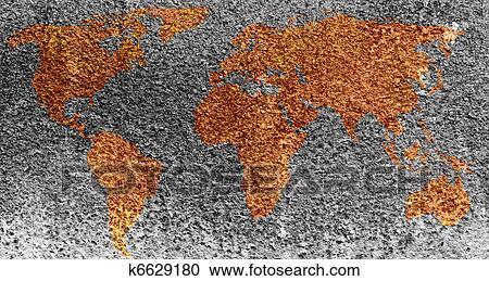 stock fotografie welt landkarte gebildet per korrosion flecke auf metall k6629180. Black Bedroom Furniture Sets. Home Design Ideas
