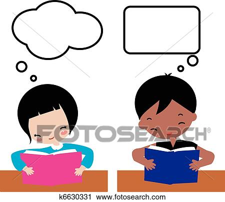 clipart of kids learning k6630331 search clip art illustration rh fotosearch com