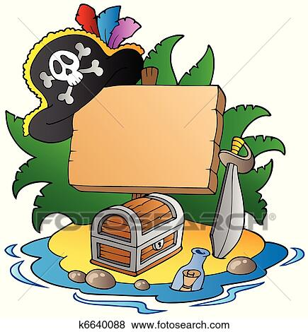 clip art of board on pirate island k6640088 search clipart rh fotosearch com fotosearch clipart fotosearch clipart