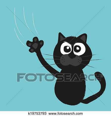 手绘图 - 猫` s, 爪子, 抓痕, a, 背景图片