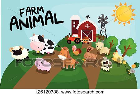 农场画画的图片大全