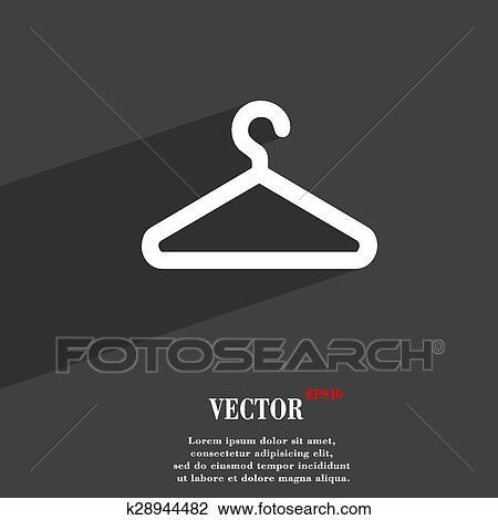 Kleiderständer clipart  Clipart - kleiderständer, symbol, symbol, flache, modernes, netz ...