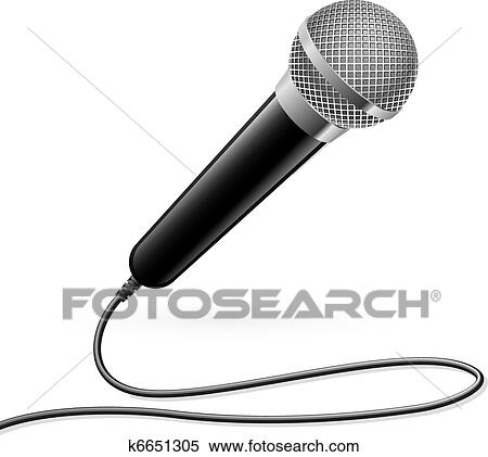 Clipart of Microphone for Karaoke k6651305 - Search Clip ...