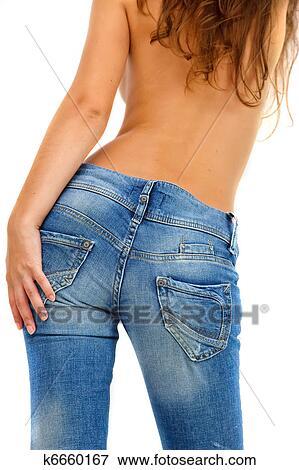 девушка снимает джинсы фото