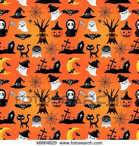 clipart dessin anim halloween seamless mod le k6664829 recherchez des cliparts des. Black Bedroom Furniture Sets. Home Design Ideas