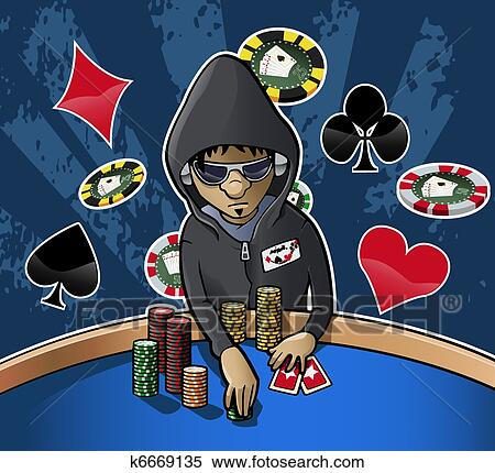 Cartoon pictures of poker chips