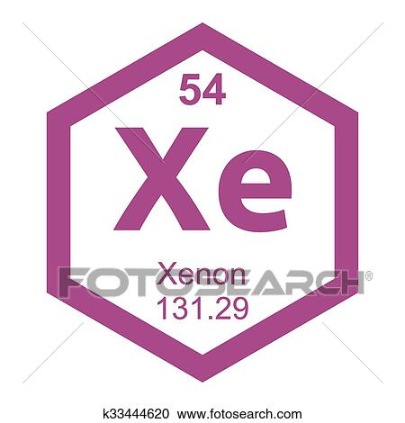 Clipart of periodic table element xenon k33444620 search clip art clipart periodic table element xenon fotosearch search clip art illustration murals urtaz Images
