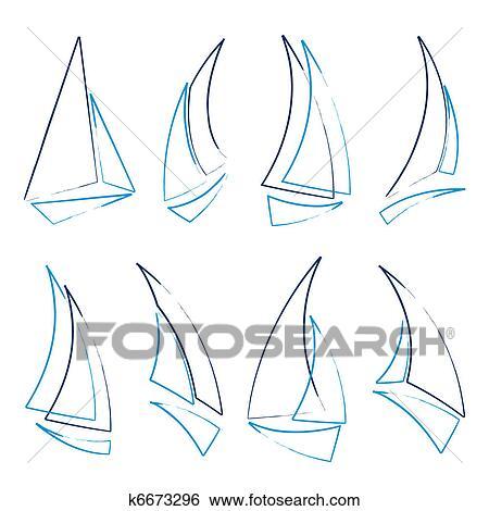 Clipart voilier ic nes k6673296 recherchez des cliparts des illustrations des dessins et - Dessins de voiliers ...