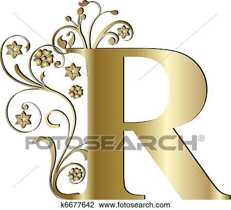 Clipart - letra maiúscula, r, ouro k6677642 - Busca de ...