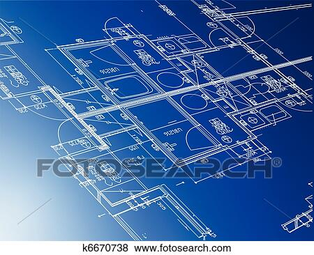 Merveilleux Clip Art   Sample Of Architectural Blueprints . Fotosearch   Search  Clipart, Illustration Posters,