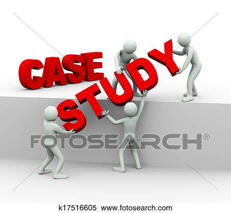 Stock Illustration of 3d people - concept of case study k17516605 ...