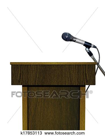Stock Photo of Podium with Microphone k17853113 - Search ...