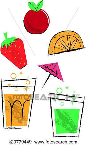 clip art of cocktail drinks and fruit children s illustrations rh fotosearch com cocktail clip art black and white cocktail clip art black and white