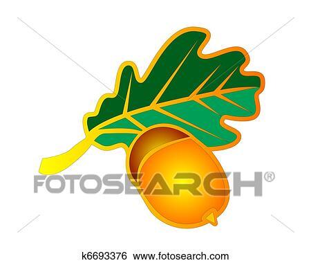 clip art symbol in dass form von eichenlaub und eicheln k6693376 suche clipart. Black Bedroom Furniture Sets. Home Design Ideas