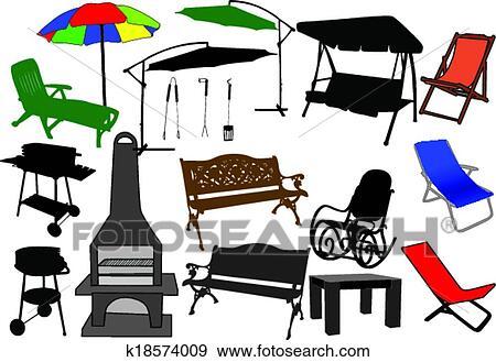 clip art m bel f r kleingarten und terrasse. Black Bedroom Furniture Sets. Home Design Ideas