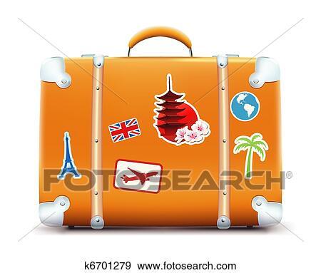 clipart vendange valise k6701279 recherchez des