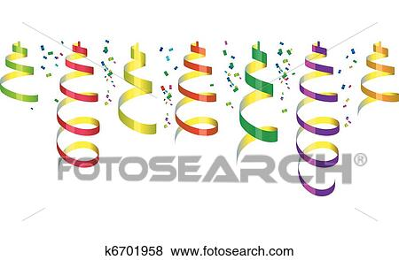 Party Confetti Drawing Clip Art Party Streamers And
