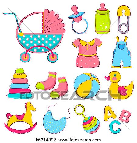 clipart of baby item k6714392 search clip art illustration murals rh fotosearch com baby items clip art printable free baby items clipart black and white
