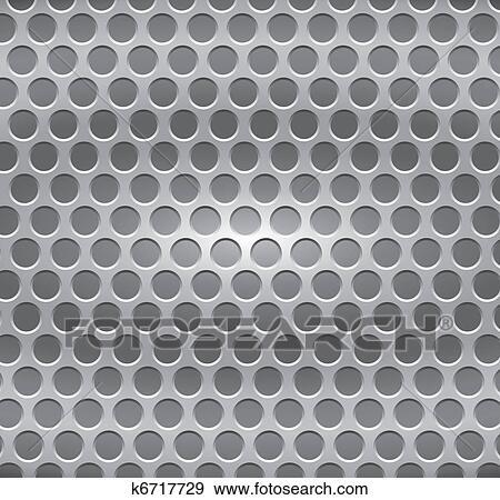 clip art metallplatte mit l cher k6717729 suche. Black Bedroom Furniture Sets. Home Design Ideas