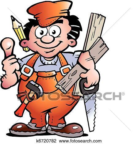 clipart of carpenter handyman k6720782 search clip art rh fotosearch com carpentry clipart carpenter clip art free