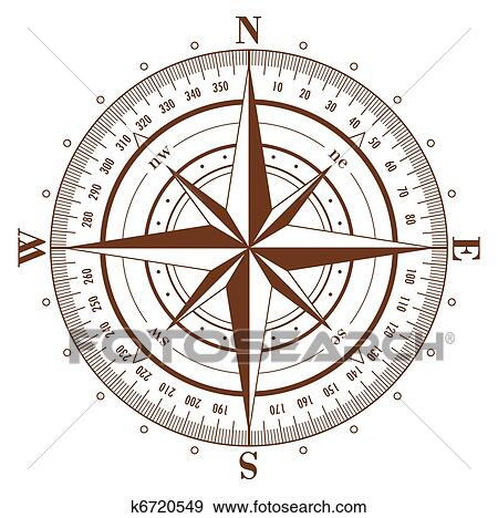 clip art of compass rose k6720549 - search clipart, illustration