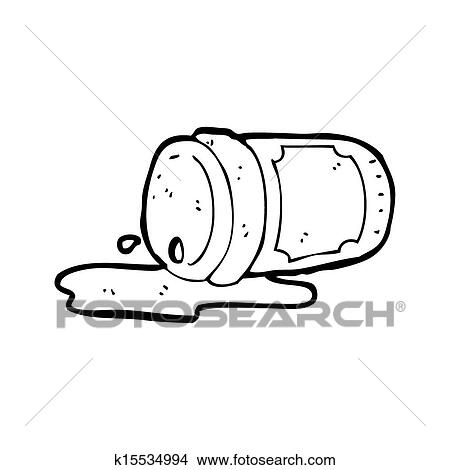drawing spilled coffee cup cartoon fotosearch search clip art illustrations wall posters