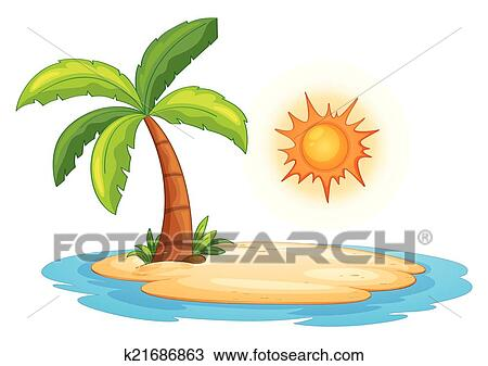 clipart of desert island k21686863 search clip art illustration rh fotosearch com iceland clip art free island clip art images