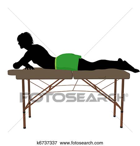 Stock Illustration - Massage Table Illustration Silhouette. Fotosearch - Search EPS Clipart, Drawings, Decorative Prints, Illustrations, and Vector Graphics Images