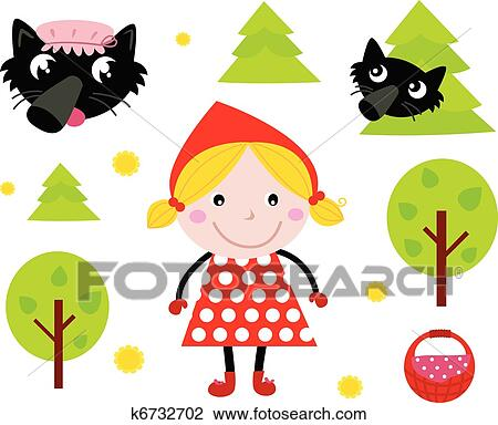 clipart of little red riding hood black wolf icon collection rh fotosearch com little red riding hood wolf clipart little red riding hood wolf clipart