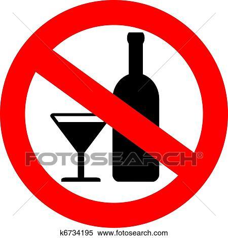 clipart of vector no alcohol sign k6734195 search clip art rh fotosearch com Pill Bottle Whiskey Bottle Clip Art