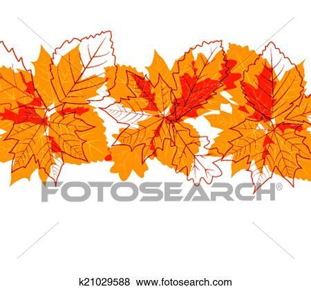 剪贴画 - 秋季树叶图片