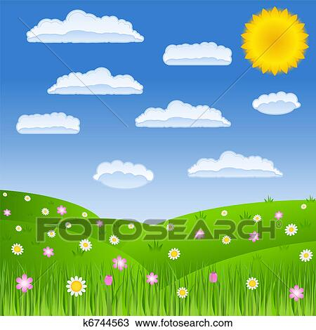green field clipart. clipart summer green field fotosearch search clip art illustration murals drawings r