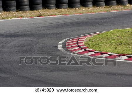 An Empty Bend On A Race Car Circuit. Part 91