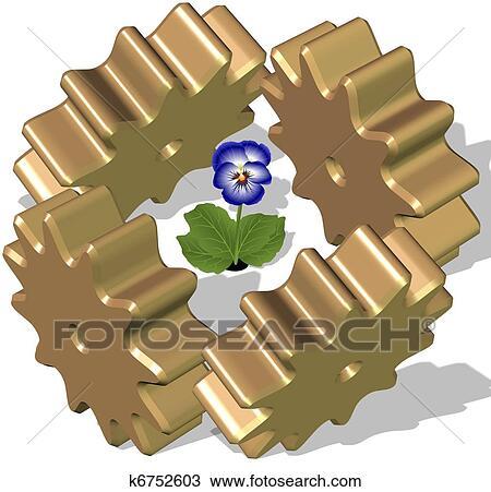 手绘图 - 保护, a, 花