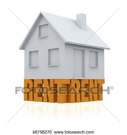Stock illustrationen haus miete k6756270 suche clipart for Suche haus miete