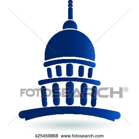clip art of capitol building temple icon logo k25459868 search rh fotosearch com capitol building vector graphic capitol building vector art