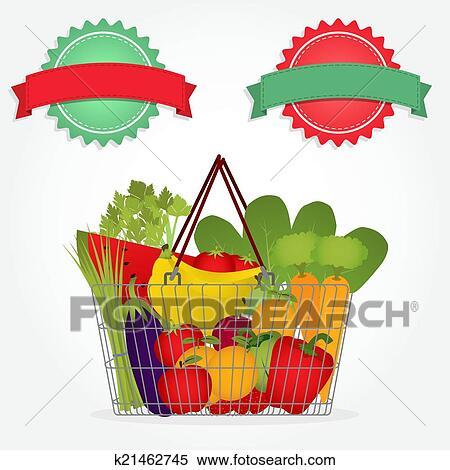 蔬菜篮子儿童画