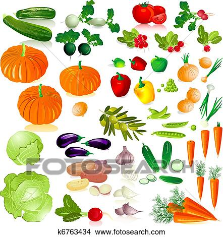 Vegetable Clipart Illustrations. 81,116 vegetable clip art vector ...