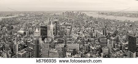 stock bild new york city manhattan stadtzentrum skyline schwarz wei k6766935 suche. Black Bedroom Furniture Sets. Home Design Ideas
