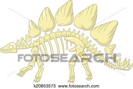 Gallery For gt Stegosaurus Skeleton Drawing