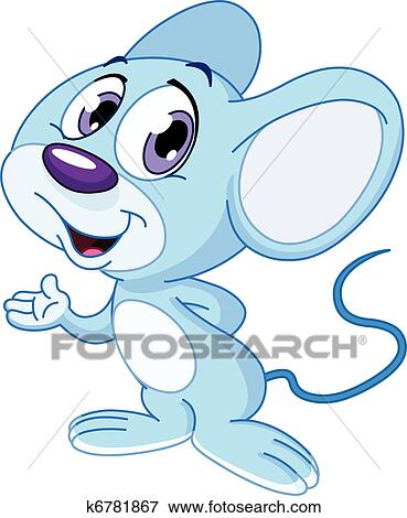 Clip Art of Cute mouse k6781867 - Search Clipart, Illustration ...