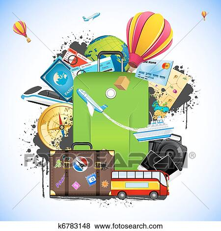 Clip Art - Travel Package. Fotosearch - Search Clipart, Illustration ...