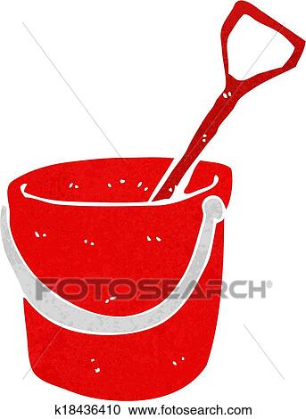clipart of cartoon bucket and spade k18436410 search clip art rh fotosearch com spades clipart space clip art free images