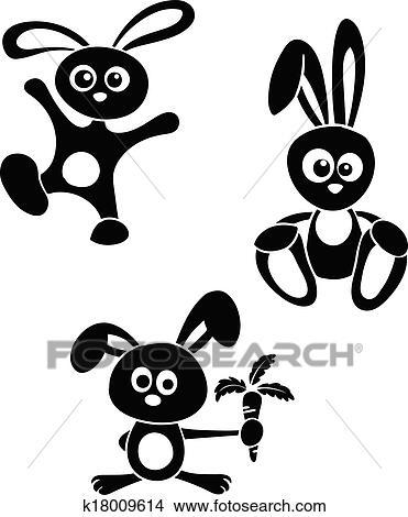 小兔子剪贴画