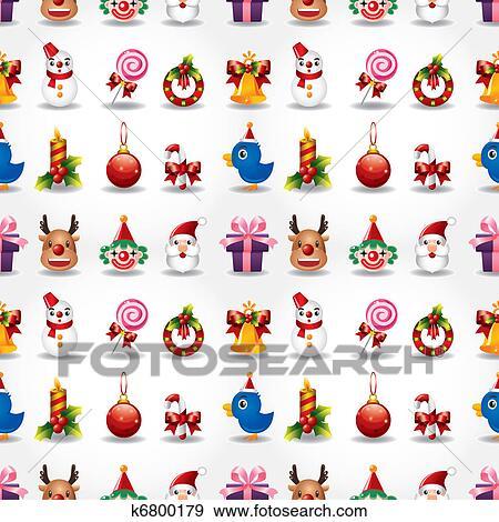 Seamless Weihnachten Lustig