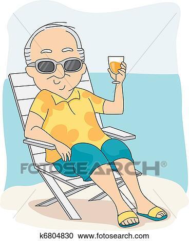 Clip Art of Retirement Vector k3545408 - Search Clipart ...